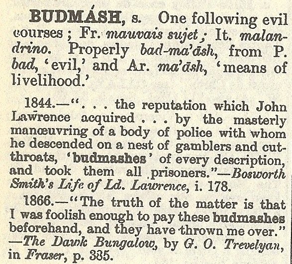 From 'Hobson-Jobson, The Anglo-Indian Dictionary' by Henry Yule and A. C. Burnell, first published in 1886