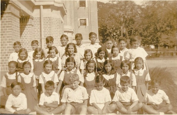 Diocesan Girl's School. Rangoon, 1932. Dad is front row, second from right. Arthur is back row, second from right.