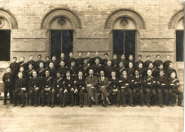 Hope Grant House at Lawrence Memorial Royal Military School, 1937. Dad is sixth from the right in the back row, Arthur is third from the right in the middle row.