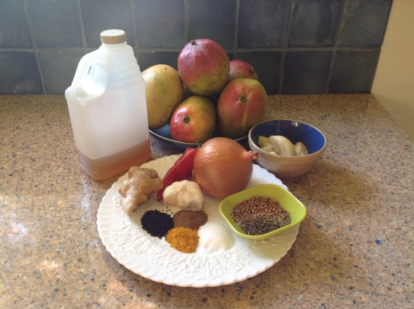 Ingredients for Mango Chutney